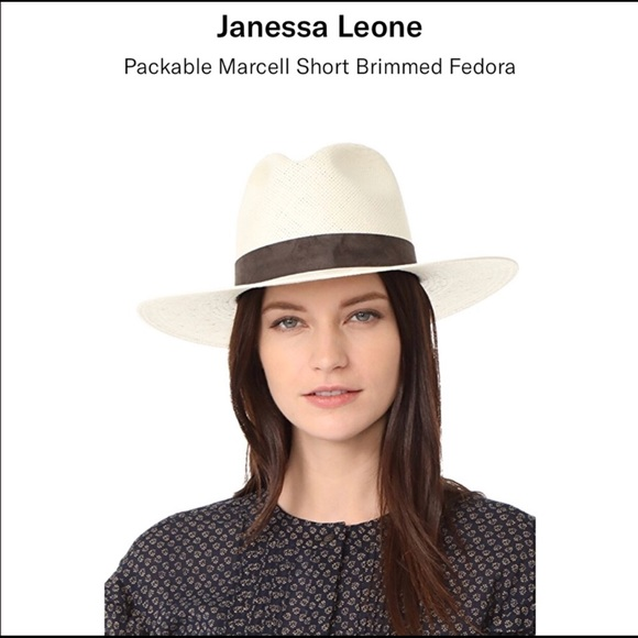 8472d71b87c12 Janessa Leone Accessories - Janessa Leone Marcelle Packable Hat Size M